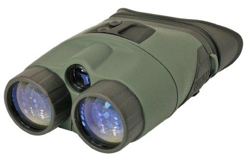 Yukon Nachtsichtgerät Tracker 3x42, binokulares Nachtsichtgerät der Generation 1+ mit eingebautem Infrarotstrahler mit PULSE System, Stativanschlussgewinde, wasserdicht