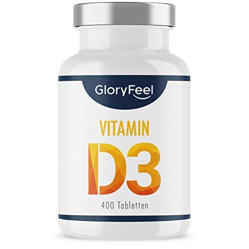 Vitamin D Sonnenvitamin - 400 Tabletten (13 Monate) - Laborgeprüfte 1000 IE Vitamin D3 pro Tablette - Unterstützt Knochen, Zähne, Muskeln und Immunsystem* - Ohne Zusätze hergestellt in Deutschland