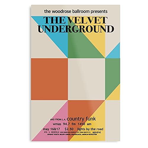 Genérico 1960S Promo Concert Velvet Lou Reed Warhol Nico Andy Deerfield The Underground - Póster...
