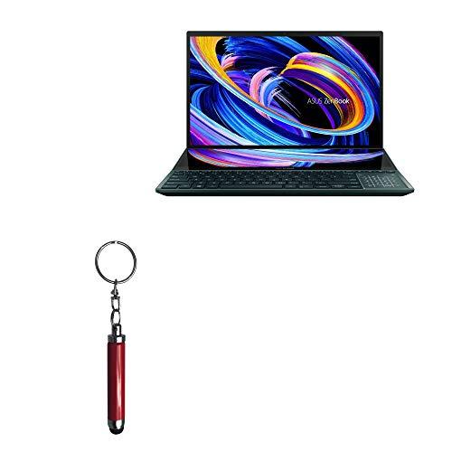Caneta Stylus BoxWave para ASUS ZenBook Pro Duo 15 (UX582) [Bullet Capacitive Stylus] Mini Stylus Pen com chaveiro Loop para ASUS ZenBook Pro Duo 15 (UX582) - Ruby