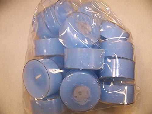 Dänische Teelichter in der Farbe Hellblau (Babyblau), Acryl-Cup, Verpackungseinheit 20 Stück