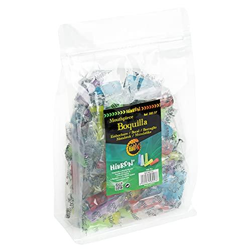 HIBRON Boquillas Higiénicas Multicolor para todas las Cachimbas y Shishas. Envasadas Individualmente Totalmente Seguras. 100uds
