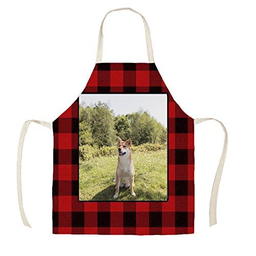 Delantal De Foto Personalizado Para Hombres Y Mujeres, Delantales De Parrilla Personalizados Con Foto, Babero De Chef De Cocina Para Cocinar Barbacoa