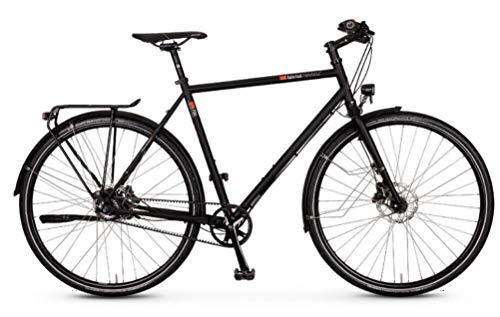 """vsf fahrradmanufaktur T-700 Shimano Alfine 11-G Disc Gates Trekking Bike 2021 (28\"""" Herren Diamant 52cm, Ebony Matt (Herren))"""
