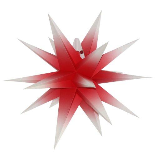 Annaberger Faltstern 58cm rot mit weißen Spitzen