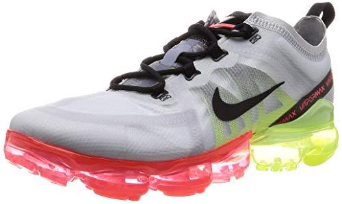 Nike Air Vapormax 2019, Zapatillas de Atletismo Hombre, Multicolor (Pure Platinum/Black/Volt/Bright Crimson 000), 46 EU