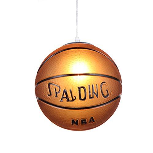 outgeek Deckenleuchte Creative Pendelleuchte E27 Basketball Fußball Deckenleuchte Hängeleuchte ohne Glühbirne