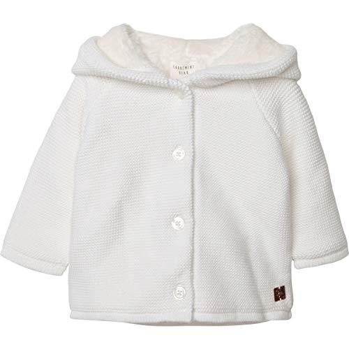 CARREMENT BEAU Abrigo de algodón y Lana Bebe Blanco Roto 6MESES