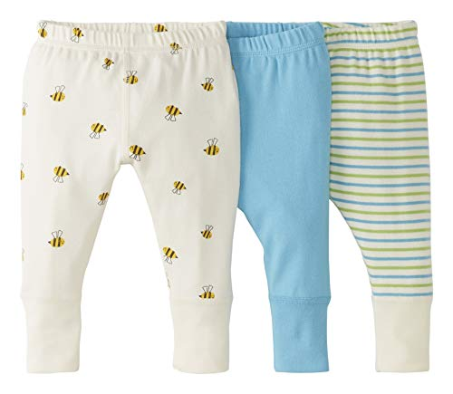 Moon and Back by Hanna Andersson 3 Pack Jogger Infant-and-Toddler-Pants, Medium Turquoise, 12-18 Months, 3er-Pack
