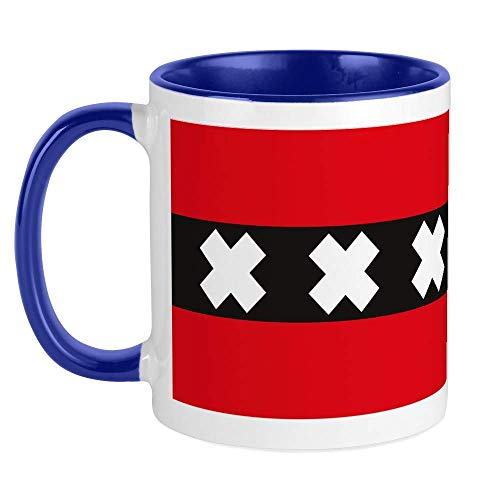 330ML Taza de cerámica Tazas de café Bandera de Amsterdam