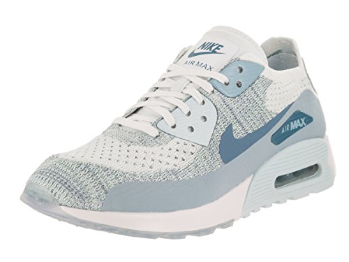Nike W AIR MAX 90 ULTRA 2.0 FLYKNIT womens running-shoes 881109-105_9.5 - WHITE/LT ARMORY BLUE-GLACIER BLUE