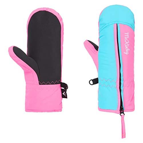 McKINLEY Unisex Kinder Adriel II Handschuh für besondere Anlässe, Pink/Turquoise, 3