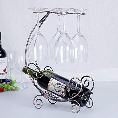 Bedspread Estante para Vino Organizador para Vino Estante para Copas de Vino Estante para Vino de pie Independiente Estante para Botellas de Vino de Hierro Europeo