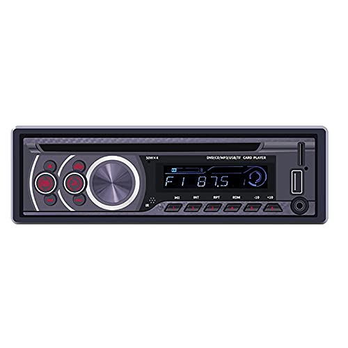 Coche Bluetooth Radio De Manos Libres, Reproductor De Audio De Audio De Audio De DVD De Automóvil, Tarjeta De Soporte USB/SD/Entrada AUX, Carga De Teléfonos Móviles Y Calidad De Sonido HIFI