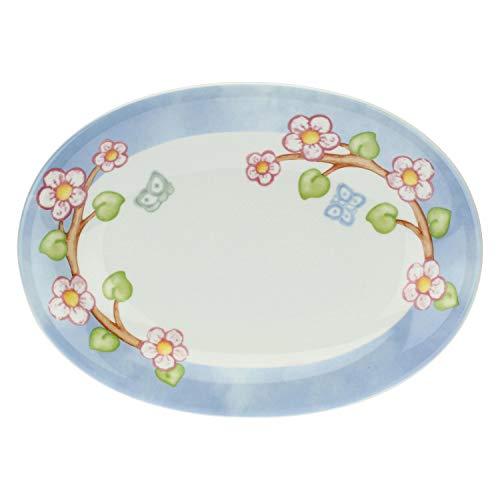 THUN - Piatto Ovale - Piatto da Portata - Idea Regalo - Linea Color Your Easter - Porcellana - 28x20x4 cm