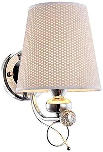 Personalidad creativa Lámpara de pared moderna Tela de moda Luz de pared Decoración del hogar Decoración europea Luminaria Luminaria Aisle Restaurante Bedroom Iluminación de la cama de la cama