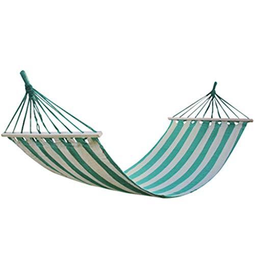 Hamac de toile de coton de loisirs de plein air avec balançoire en bois de parc de bâtons, feuilles suspendues Personnes Couleur Bar Hamac Camping Hamac de loisirs de voyage Hamac Portable 200 × 80 cm