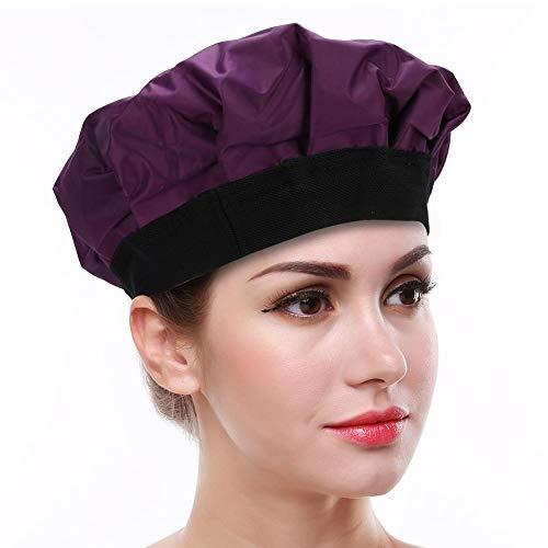 Capuchon de conditionnement en profondeur, Capuchon de traitement des cheveux thermiques/froids Chapeau de soin des cheveux de coiffure de bricolage pour salon de coiffure (violet)