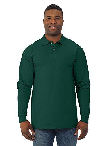 Jerzees 437 ml 50/50 L-sleeve Jersey Polo - Vert - Medium