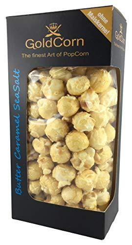 Gourmet Popcorn Butter Meersalz Karamell/ Butter SeaSalt Caramel 100 gramm Box Feinkost Snack | GoldCorn