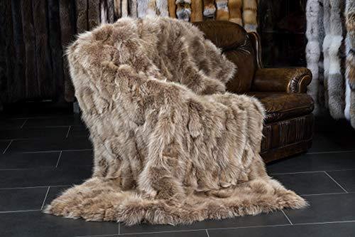Lars Paustian International Furs Kanadische Kojoten Echtfell Decke ((ca. 190 x 130 cm))