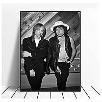 トムペティとボブディランのユニークなギフトポスターとプリントウォールアート写真絵画家の装飾キャンバス絵画-50x70cmx1pcs-フレームなし