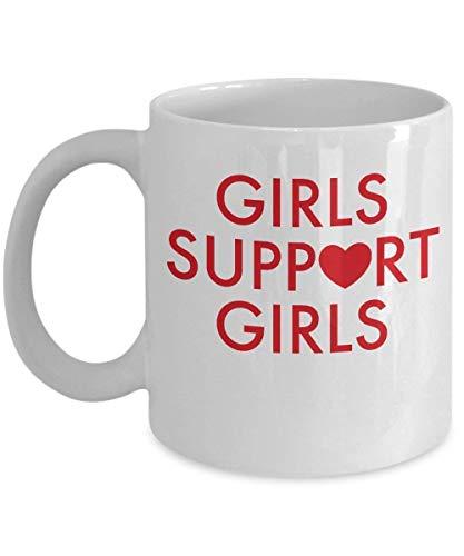 N\A Girls Support Girls T Shirt Girl Self Esteem Taza de café