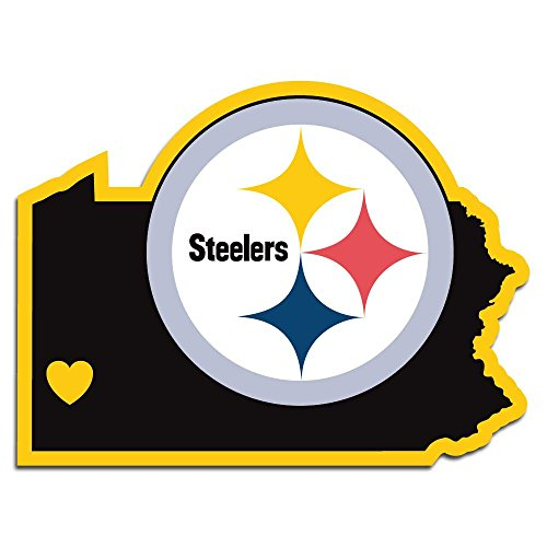 NFL Siskiyou Sports Fan Shop Pittsburgh Steelers Home State Aufkleber One Size Team Farbe