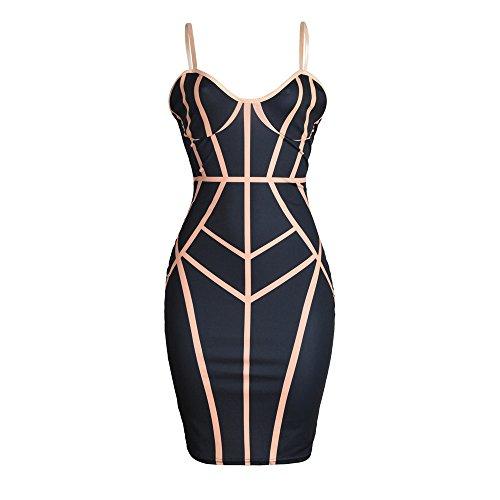 Damenkleider, Mode Damen Maxikleid Frauen Bodycon Kleid Slim Fit ?rmellos Abendgesellschaft Bleistift-Kleid