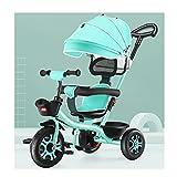 LUQ Kinderwagen,für Kinder Dreirad,unter 6 Jahre altes licht Fahrrad babyfahrrad Auto...