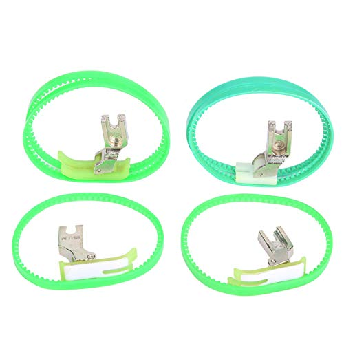 KAKAKE Prensatelas con Rodillo, tamaño razonable Prensatelas para máquina de Coser Esencial para Chaquetas de Plumas para Impermeables Bolsas para Productos de plástico para Abrigos de Cuero
