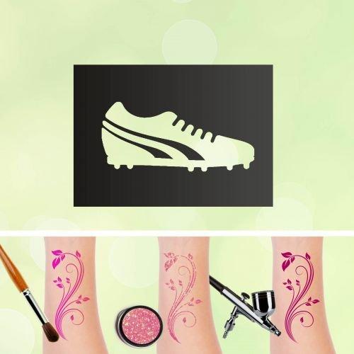 Tattoo Plantillas Botas de fútbol para auto-adhesivos kinders chminken aerógrafo