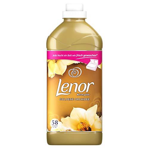 Lenor Weichspüler, Flauschige Wäsche, Lenor Goldene Orchidee, 58 Waschladungen (1.74 L)
