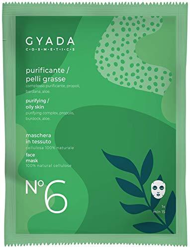 Gyada Cosmetics Gc027 Maschera in Tessuto N6 Purificante per Pelli Grasse