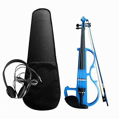 Kit de violín electroacústico para violín 4/4 de madera maciza Kit de...