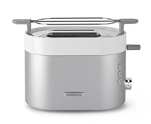 Kenwood TCM 401 TT - Tostador, 5 niveles de tostado, 2 ranuras, descongelar, bandeja recogemigas, color plata