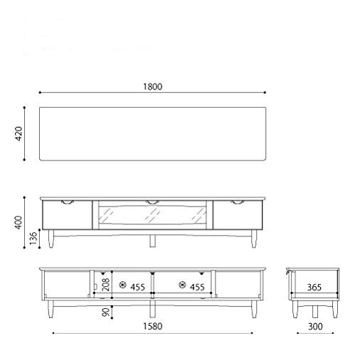 ISSEIKIテレビボードTVボードミディアムブラウン幅180cmウォルナットの美しいデザイン木製家具大型家具配送VELOCE180TV