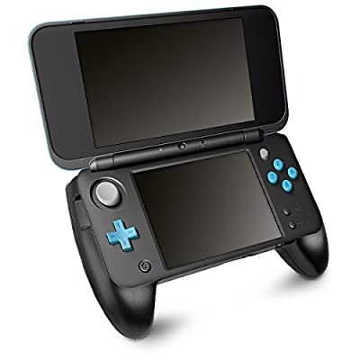 kwmobile Handle for New Nintendo 2DS XL - Also compatible with New Nintendo 2DS LL - Handle controller with stand for Nintendo console - Black