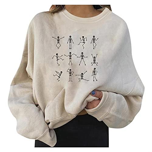 Padaleks Women Novelty Sweatshirt Funny Prited Crewneck Long Sleeve Shirts Casual Basic Pullover Fall Tops S-XXL