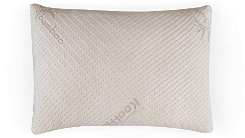 Snuggle-Pedic Adjustable USA Made Ultra-Luxury Bamboo Shredded Memory Foam Pillow Combination...