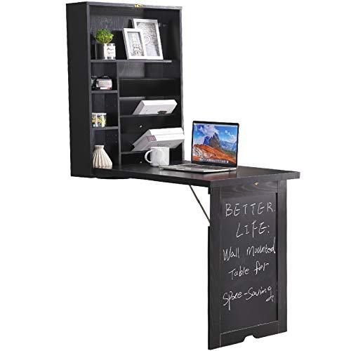 Lipo Fold Out Desk With Bookshelf