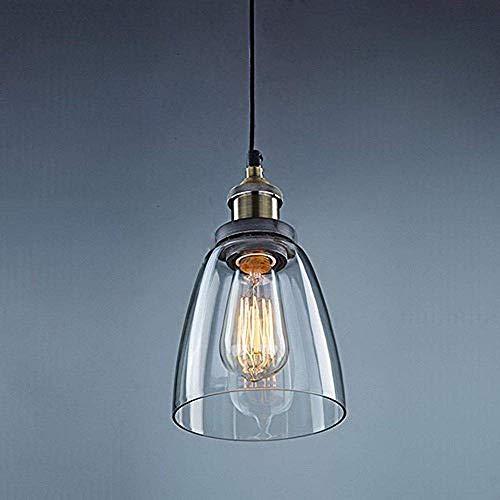e Przemysłowe nowoczesne żyrandole lampy sufitowe, proste żelazne szklane lampy wiszące do pokoju Bar Korytarz Salon Balkon Restauracja Biuro Antresola, czarny