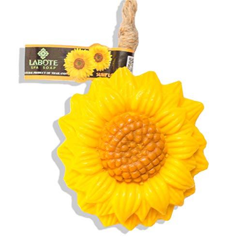 LABOTE Handgemachte thailändische Bio Naturseife Sonnenblume mit typischem Duft