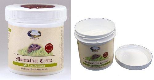 """Murmeltier Creme 250ml Allgäu Hof \""""Original Rezeptur\"""" hält die Haut geschmeidig und versorgt sie mit Feuchtigkeit, Intensive Pflege für trockene Haut, Dose mit Sicherheitsband"""