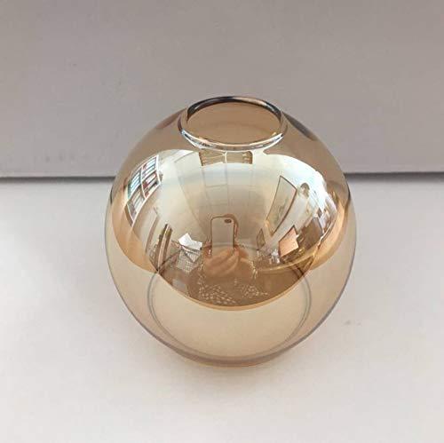 Ersatzschirm E14 Lampenschirm Castello Ersatzglas goldfarbig Lampe Pendellampe Lampenglas