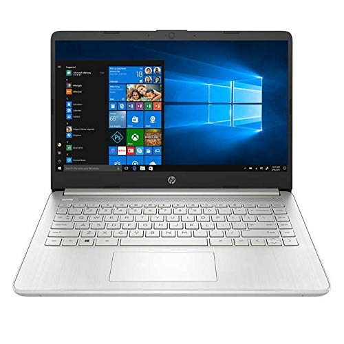HP 14' FHD Laptop Intel Processor i5-1035G1 12GBRAM 256GB Solid State Drive Backlit Keyboard Integrated Intel UHD Graphics (Renewed)