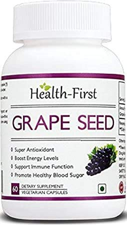 Health First Grape Seed Extract - 500 mg (60 Capsules)