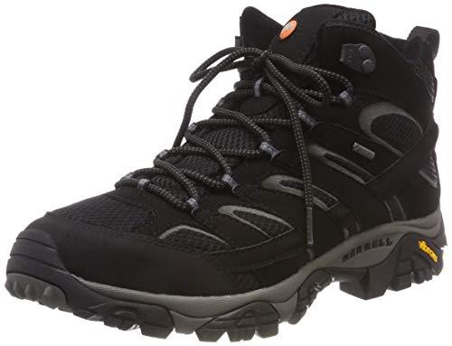 Merrell Damen Moab 2 Mid Gore-tex Trekking-& Wanderstiefel, Schwarz (Black Black), 38.5 EU
