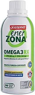 Enerzona Enervit, Integratore Alimentare per il Controllo del Colesterolo e Trigliceridi, Omega 3 RX - 240 Capsule