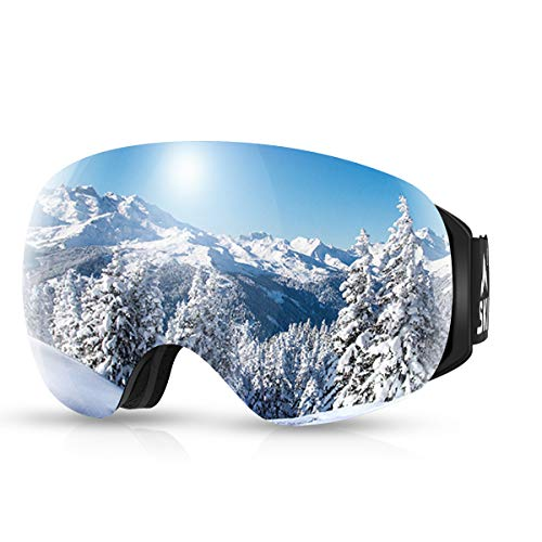 SKL Ski Goggles, OTG Snowboard Goggles,Snow Goggles with Magnetic...